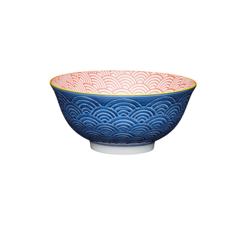 Kitchen Craft - Glazed Stoneware Bowl Blue Arc Serving Bowls | Snape & Sons