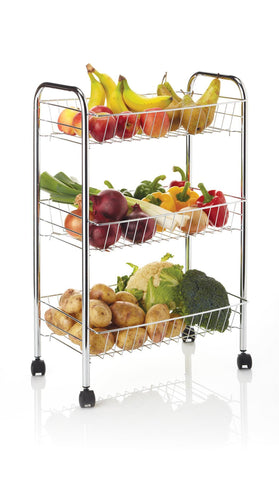 KitchenCraft - Three Tier Storage Trolley | Snape & Sons