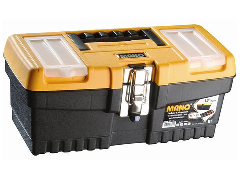 Mano Tools - 13in Toolbox with Metal Latch Tool Boxes | Snape & Sons