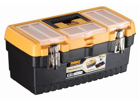 Mano Tools - 16in Toolbox with Metal Latch Tool Boxes | Snape & Sons