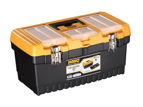 Mano Tools - 19in Toolbox with Metal Latch Tool Boxes | Snape & Sons
