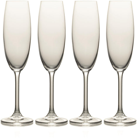 Mikasa - Julie Crystal Champagne Flutes Wine Glasses | Snape & Sons