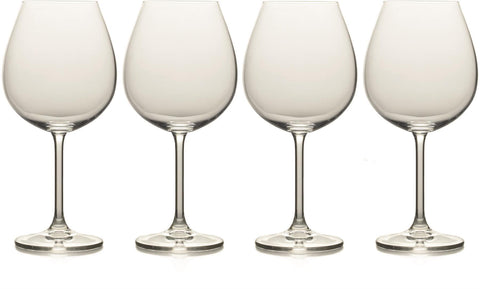 Mikasa - Julie Crystal Red Wine Glasses x4 710ml Wine Glasses | Snape & Sons