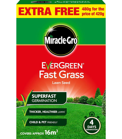 Miracle Gro - Evergreen Fast Grass Lawn Seed 480g Lawn Seed | Snape & Sons