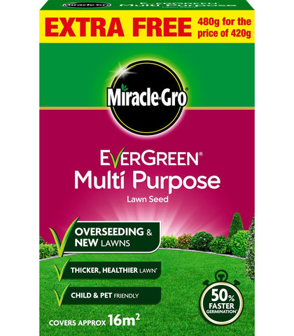 Miracle Gro - Evergreen Multi Purpose Lawn Seed 480g Lawn Seed | Snape & Sons