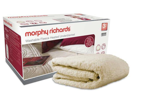 Morphy Richards - Washable Fleeced Heated Blanket King Size Heated Mattress Toppers | Snape & Sons