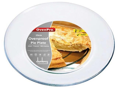 Oven Pro - Glass Pie Plate 25cm Pie Dishes | Snape & Sons