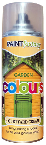 Paint Factory - Garden Colours Courtyard Cream 400ml Spray Paints | Snape & Sons