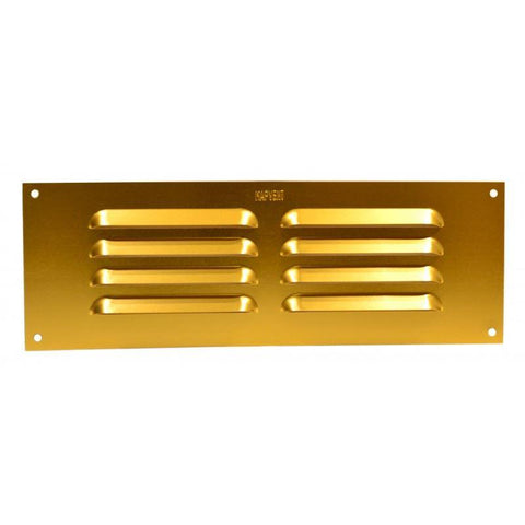 Plumb Best - Gold Aluminum Louvre Vent Small Vents | Snape & Sons