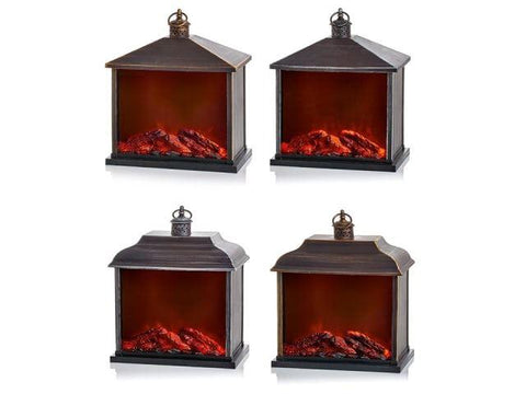 Premier Decorations - Fireplace Lantern 35cm Household Christmas Decorations | Snape & Sons