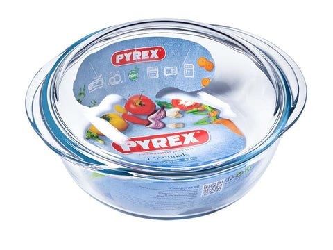Pyrex - Essential Round Casserole 2.3L Casserole Dishes | Snape & Sons