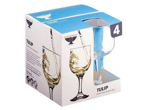 Ravenhead - Tulip White Wine Glasses x 4 Wine Glasses | Snape & Sons