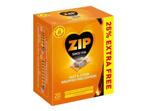Reckitt - Zip Fast & Clean Firelighters x16 +25% EXTRA FREE Firelighters | Snape & Sons