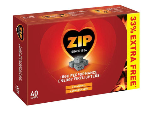 Reckitt - Zip Firelighters x30 +33% EXTRA FREE Firelighters | Snape & Sons