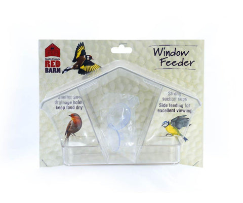 Red Barn - Deluxe Chalet Window Feeder Seed Feeders | Snape & Sons