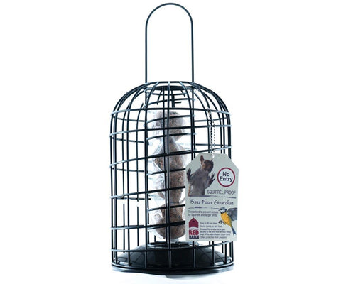 Red Barn - Heavy Duty Squirrel Guardian Suet Feeder Fat Ball Feeders | Snape & Sons