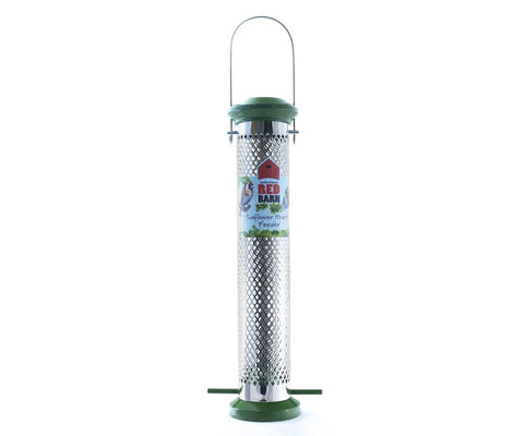 Red Barn - Metal Squirrel Resistant Sunflower Heart Feeder Seed Feeders | Snape & Sons