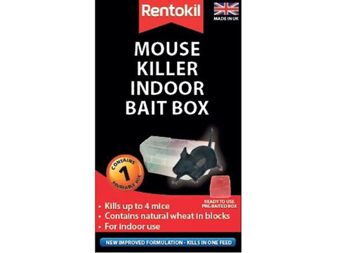 Rentokil - Refillable Indoor Mouse Killer Bait Box Rodent Control | Snape & Sons