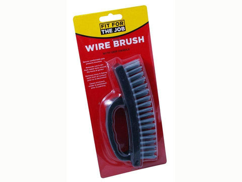 Rodo - Wire Deck Brush with Grip Handle Wire Brushes | Snape & Sons