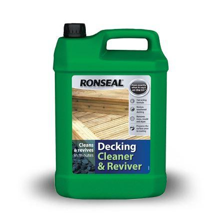 Ronseal - Decking Cleaner & Reviver 5 Litre Decking Cleaners | Snape & Sons
