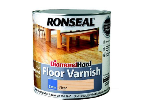 Ronseal - Floor Varnish Satin Diamond Hard 2.5l Varnishes | Snape & Sons