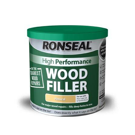 Ronseal - High Performance Wood Filler 1kg Natural Wood Fillers | Snape & Sons