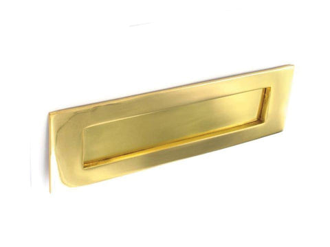 Securit - Brass Letter Plate 12in Letterboxes | Snape & Sons