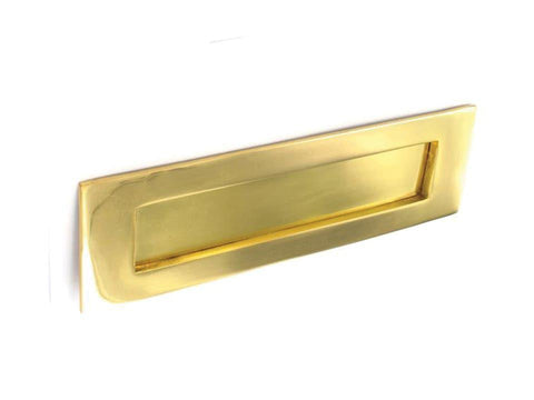 Securit - Brass Victorian Letter Plate 12in Slim Letterboxes | Snape & Sons