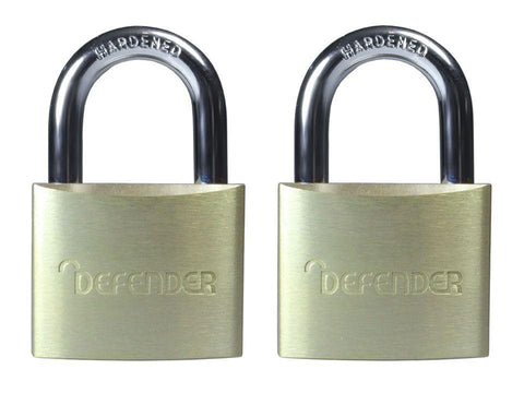 Squire Security - Defender Padlock 40mm Twin Pack Padlocks | Snape & Sons