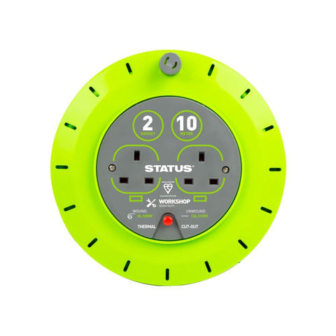 Status - 10m 2 Gang Extension Reel Extension Reels | Snape & Sons