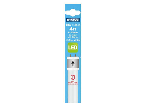 Status - 4ft 18W LED Tube & Fitting Cool White Fluorescent Tubes | Snape & Sons