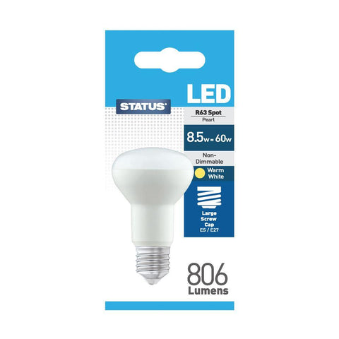 Status - 8.5W LED R63 Reflector E27/ES Reflector Bulbs | Snape & Sons