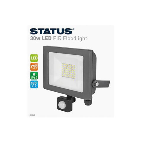 Status - Imola 30W LED PIR Floodlight Flood Lights | Snape & Sons