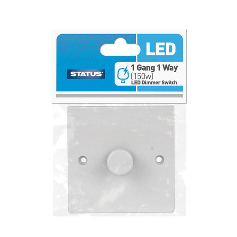 Status - LED Dimmer 1 Gang Switch Plate Light Switches | Snape & Sons