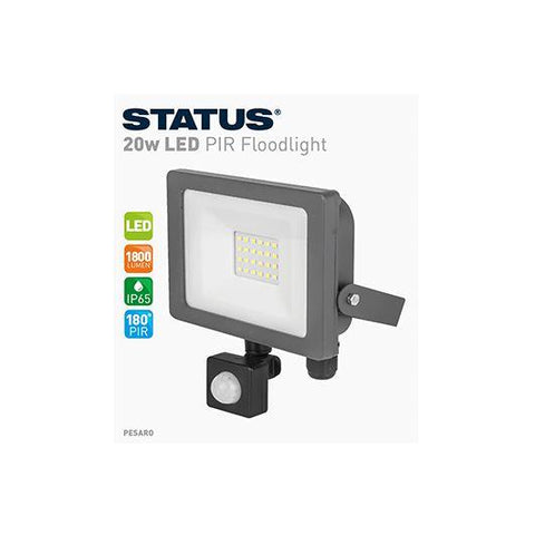 Status - Pesaro 20W LED PIR Floodlight Flood Lights | Snape & Sons