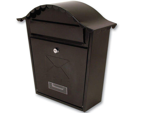 Sterling Locks - Classic Black Post Box Post Boxes | Snape & Sons
