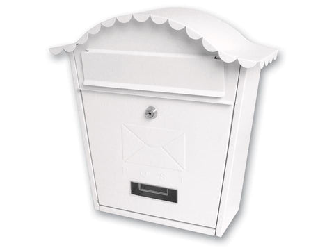 Sterling Locks - Classic White Post Box Post Boxes | Snape & Sons