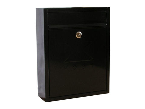 Sterling Locks - Compact Black Post Box Post Boxes | Snape & Sons