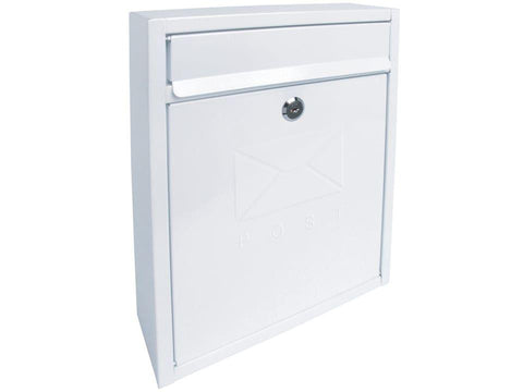 Sterling Locks - Compact White Post Box Post Boxes | Snape & Sons
