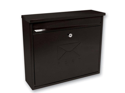 Sterling Locks - Elegance Black Rectangular Post Box Post Boxes | Snape & Sons
