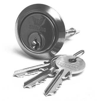 Sterling Locks - Replacement Cylinder Chrome S/Steel RCS100 Nightlatches | Snape & Sons