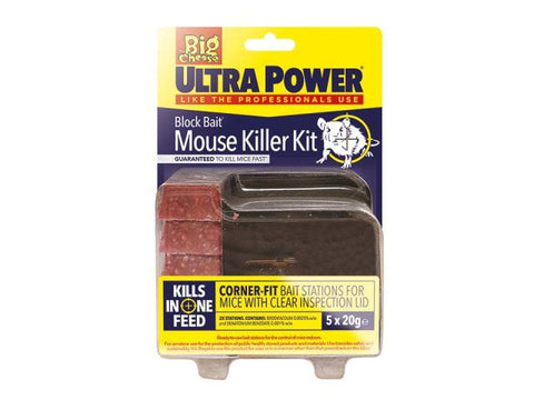 STV - Ultra Bait Mouse Killer Station x 2 Rodent Control | Snape & Sons