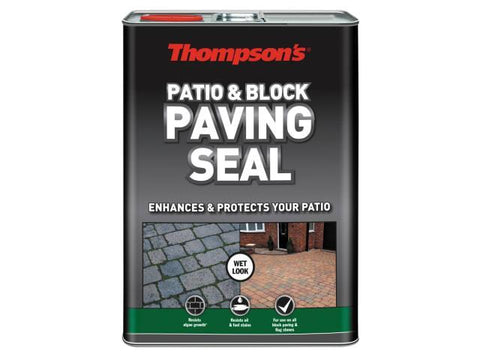 Thompson's - Patio & Block Paving Seal Wet Look 5l Patio Sealants | Snape & Sons