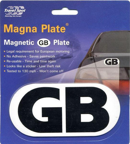 Travel Spot - Magnetic GB Plate Car Travel Accessories | Snape & Sons