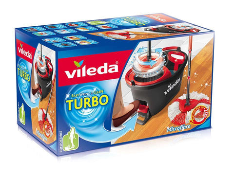 Vileda - Easy Wring & Clean TURBO Mop & Bucket Set Complete Mops | Snape & Sons