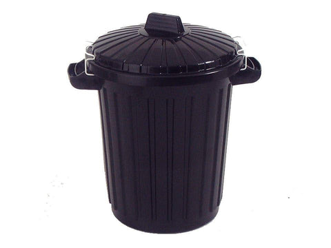 Ward - Black Clip Dust Bin Dustbins | Snape & Sons