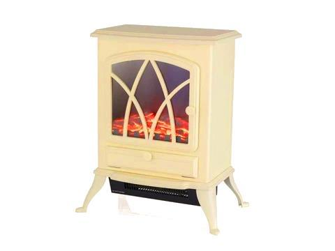 Warmlite - Sterling Cream Electric Stove Electric Stoves | Snape & Sons