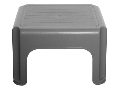 Whitefurze - Stool Silver 40cm H23212 Step Stools | Snape & Sons