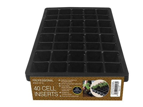 Worth - 40 Cell Insert Seed Trays x5 Seed Trays | Snape & Sons
