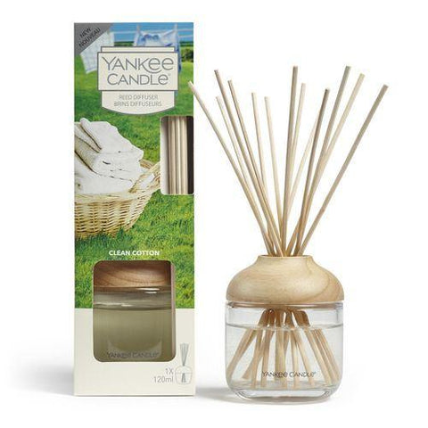 Yankee Candle - Clean Cotton Reed Diffuser Reed Diffusers | Snape & Sons